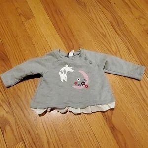 Tea Collection Bunny and Moon Long Sleeve Shirt